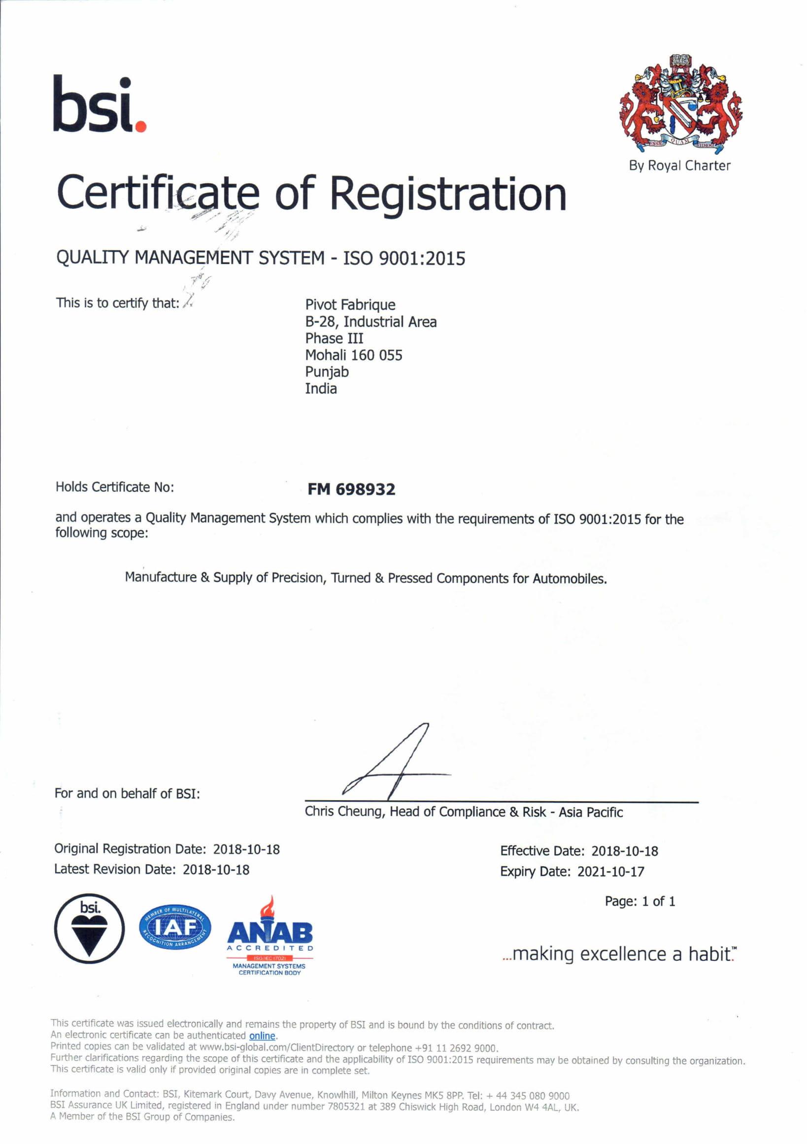 Pivot ISO-1